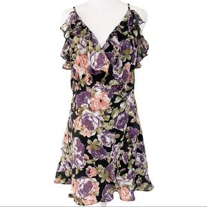 NWT LUCCA couture Floral wrap around dress
